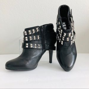 Report Faux Leather Boots Booties 6 Black Electra